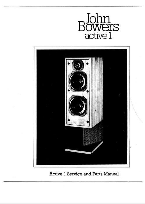 B Amp W Active 1 Bowers Amp Wilkins Service Manual Download