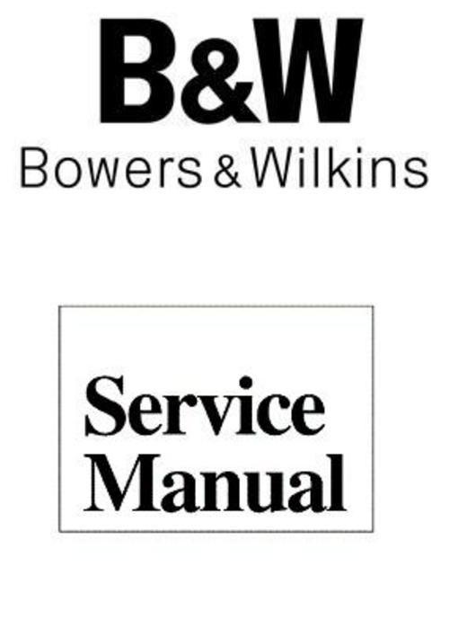 Pay for B&W CM-1 Bowers & Wilkins , Service Manual