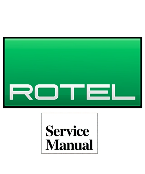 Pay for Rotel RCD-991  Service Technical Manual