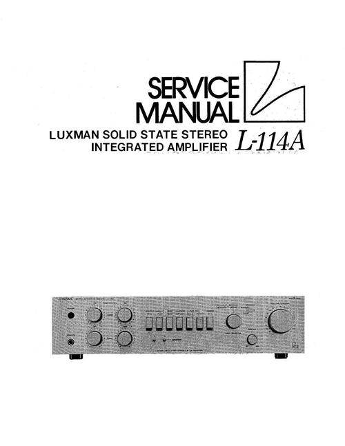 Pay for Luxman L-114-A Amplifier , Original Service Manual