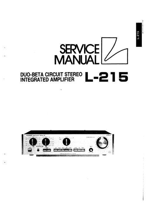 Pay for Luxman L-215 Amplifier , Original Service Manual