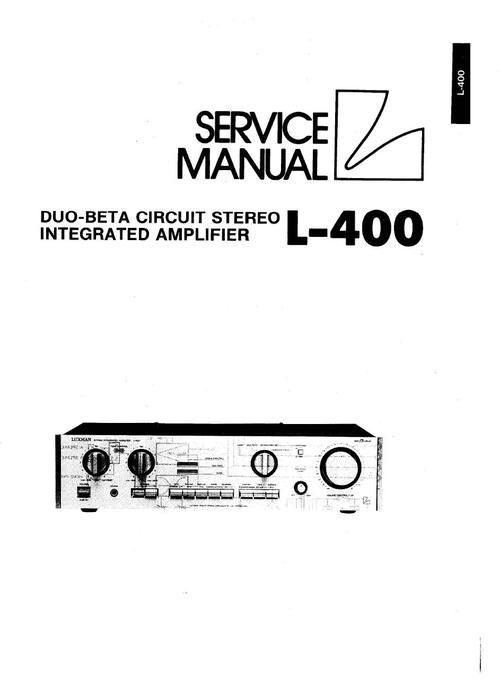 Pay for Luxman L-400 Amplifier , Original Service Manual