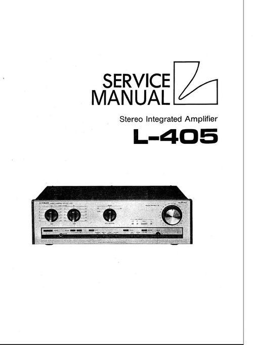 Pay for Luxman L-405 Amplifier , Original Service Manual