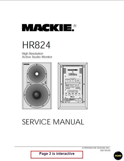 mackie hr 824 active speaker , service manual download manuals \u0026apay for mackie hr 824 active speaker , service manual