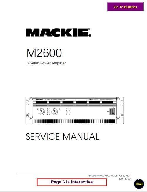 mackie wiring diagrams wiring diagrammackie m 2600 fr series power amplifier , service manual download