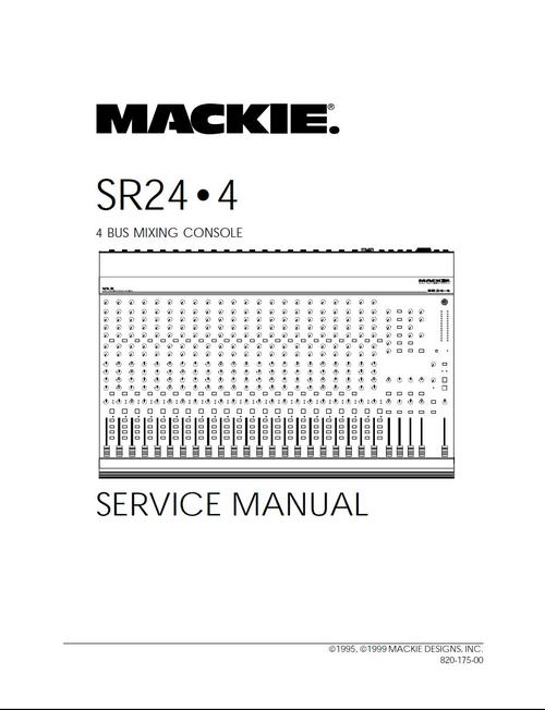mackie sr 24 4 mixing console service manual manuals pay for mackie sr 24 4 mixing console service manual