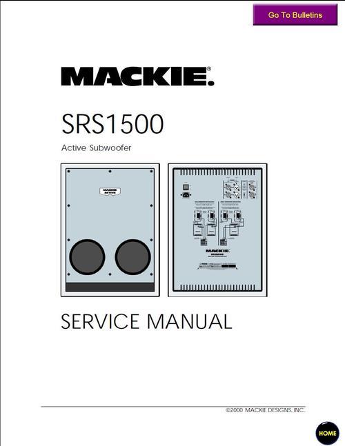 mackie srs 1500 active subwoofer , service manual download manual