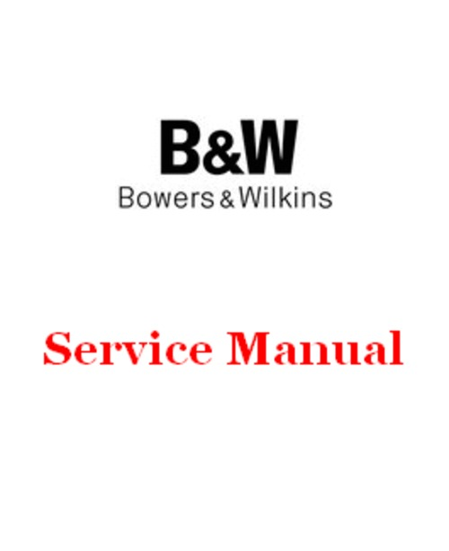 Pay for B&W ASW-1000 Subwoofer Bowers & Wilkins , Service Manual