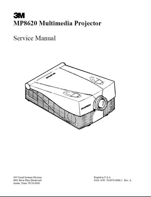 3m mp-8620   projector original service manual