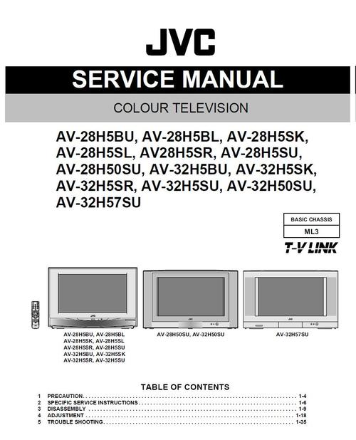 Pay for JVC  AV-28H5 , AV-28H50 , Service Manual & Schematics