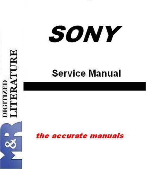Free Sony HVR-A1 Digital Video Camera , Service Manual Download thumbnail
