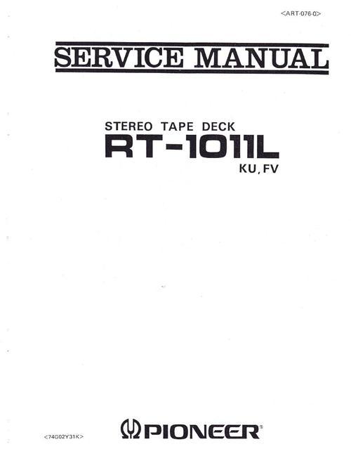 Free Pioneer RT-1011 L  ,  reel tape recorder Service Manual Download thumbnail