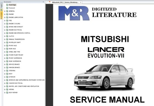 mitsubishi lancer evo vii 7 original service workshop manual down rh tradebit com 2006 Mitsubishi Lancer Evolution Mitsubishi Lancer EVO 13