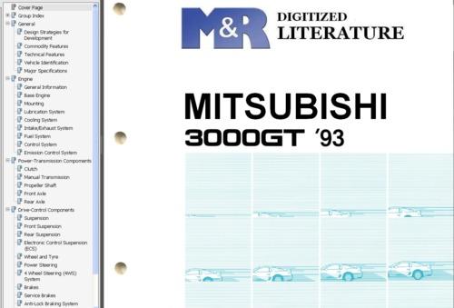 Free Mitsubishi 3000GT , Service Workshop Manual Download thumbnail