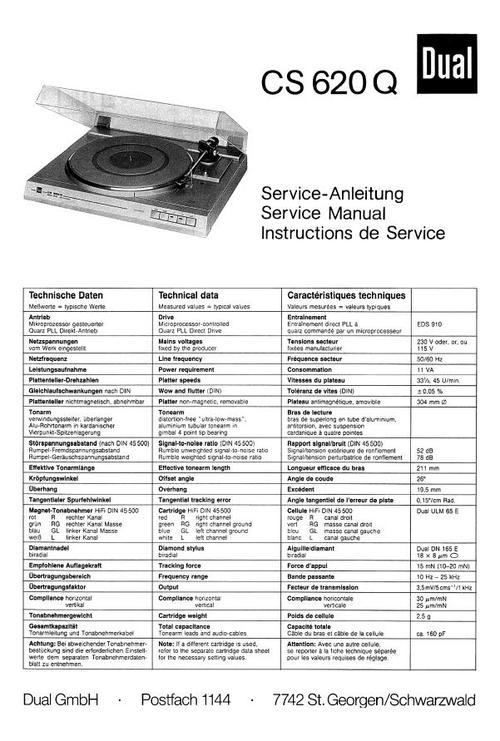 dual cs 515 turntable manual