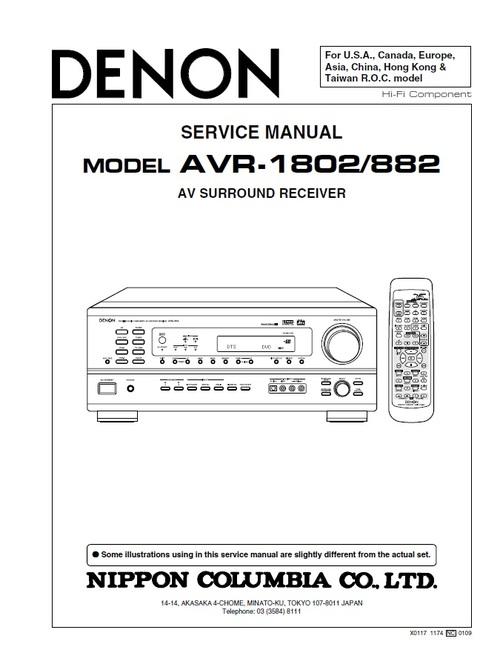 Denon AVR-1802 Service Manual