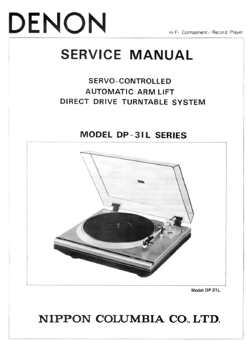 Free Denon DP-31L turntable Service Manual Download thumbnail