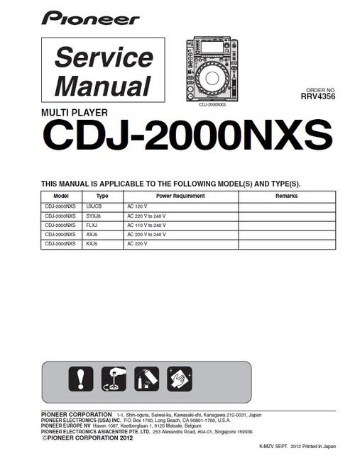 pioneer cdj 2000 nxs nexus service manual download manuals rh tradebit com service manual pioneer cdj 800 mk2 service manual pioneer ct-1380wr