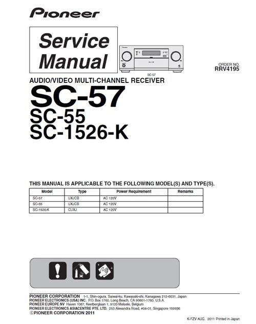 pioneer sc 55 home cinema receiver service manual download manual rh tradebit com service manual pioneer djm 600 service manual pioneer sa-7800
