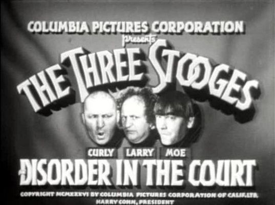 Pay for THE THREE STOOGES - DISORDER IN THE COURT - COMEDY - 1936