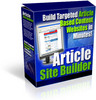 Thumbnail Article site Builder with Master Resale Rights