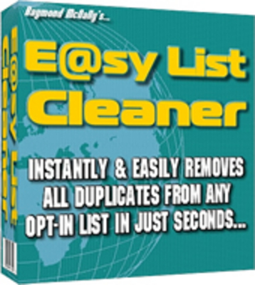Pay for Easy E-Mail List Cleaner With Master Resale RIghts