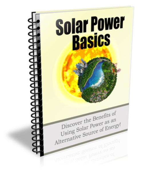 Pay for Solar Power Basics Newsletter Package - PLR
