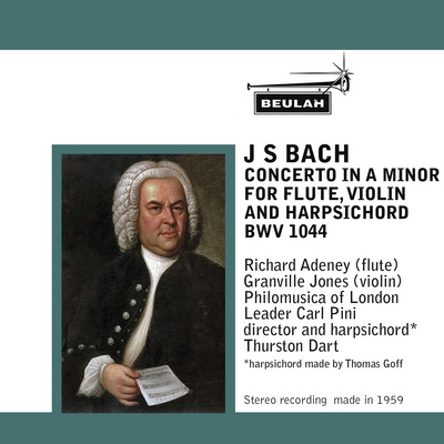 Pay for J S Bach Concerto for Flute violin and harpsichord BWV 1044