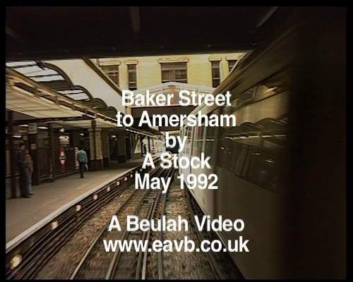 Pay for Baker Street to Amersham in the cab of an A stock train