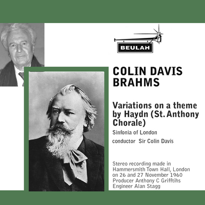 Pay for Brahms Variations on a theme by haydn sol colin davis col