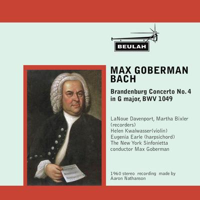 Pay for Bach Brandenburg Concerto No 4 3rd mvt Goberman