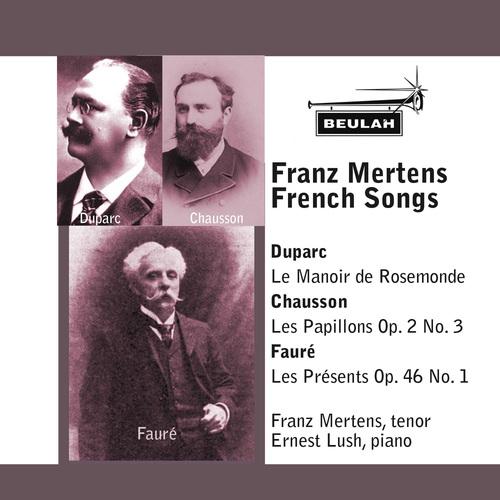 Pay for Franz Mertens tenor sings  French Songs