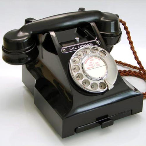 Pay for British telephone rotary dial