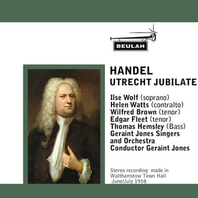 Pay for Handel Utrecht Jubilate Geraint Jones