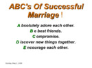Thumbnail THE ABC OF A HAPPY MARRIAGE
