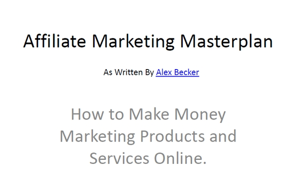Pay for Affiliate Marketing Masterplan