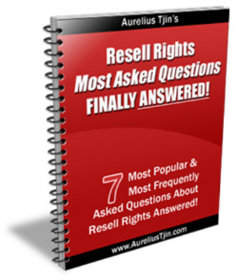 Pay for Resell Rights Most Asked Questions-  FINALLY ANSWERED!