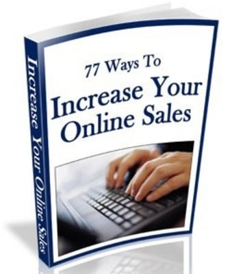 Pay for 77 Ways To Increase Your Online Sales With Mrr!