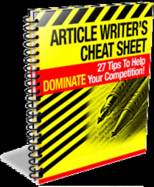 Pay for Article Writers Cheat Sheet With PLR!
