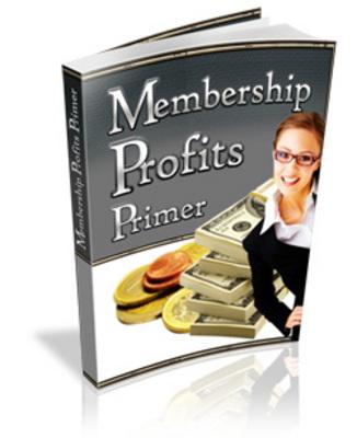 Pay for Membership Profits Primer Wtih MRR