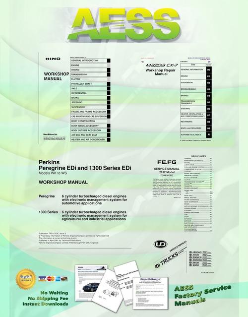 Pay for 1998 - 2003 MAZDA PROTEGE FAMILIA ETUDE 323 SERVICE MANUAL