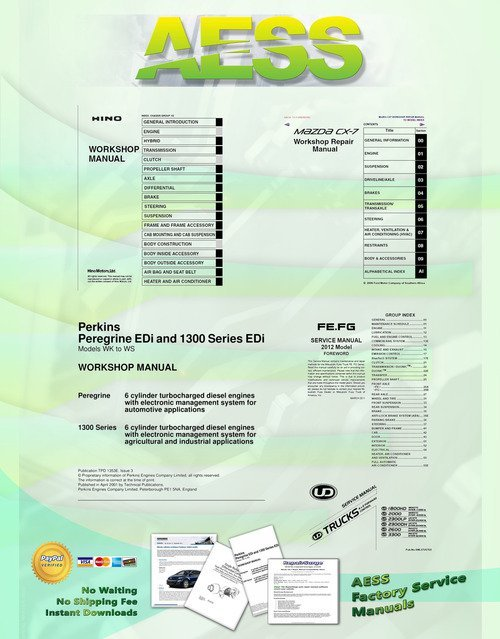 Free 2009 Nissan UD Truck 1800 - 3300 Series Service Manual Download thumbnail