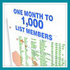 Thumbnail One Month To A 1000 List Members
