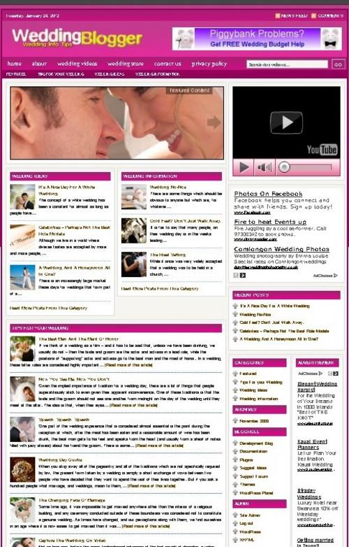 Pay for Wedding Plr Niche Blog (Wp 3.x.x)