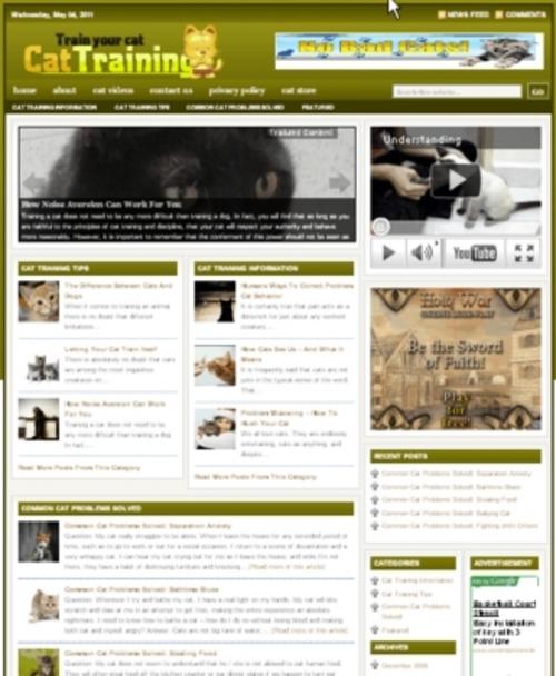 Pay for Cat Training Plr Niche  Blog (Wp 3.x.x)