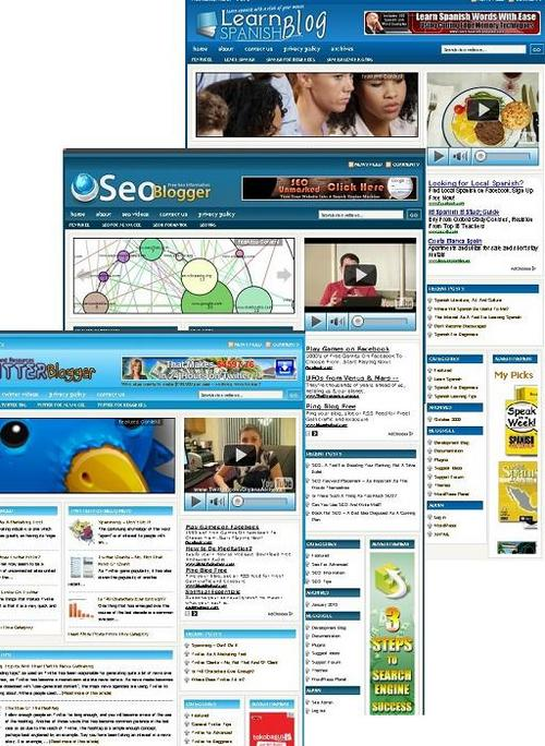Pay for 3 Niche Blog (learn spanish,seo,twitter)