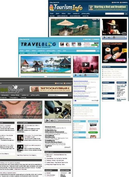 Pay for 3 Niche Blog (Travel,Tourist,Tatto)