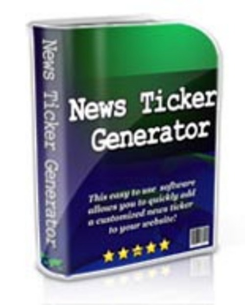 Pay for News Ticker Generator + rr