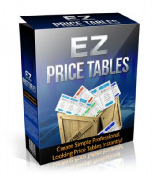 Pay for EZ WordPress Price Tables Plugin