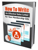 Thumbnail How to Write An Effective Membership Sales Letter
